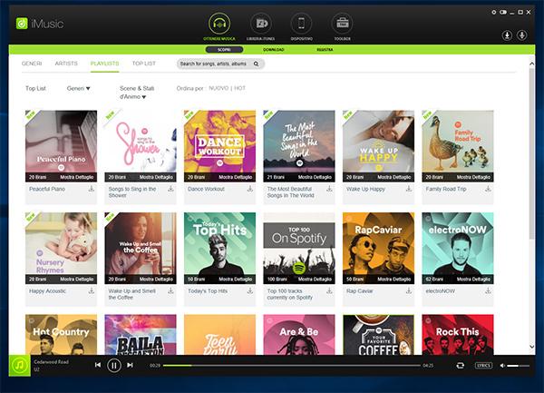 iMusic è un nuove device musicale che permette di consultare un ampio repertorio di contenuti musicali dalla rete.