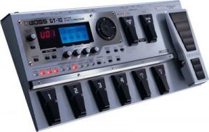 Un esempio di pedaliera digitale, con preset incorporati (e presumibilmente non modificabili).